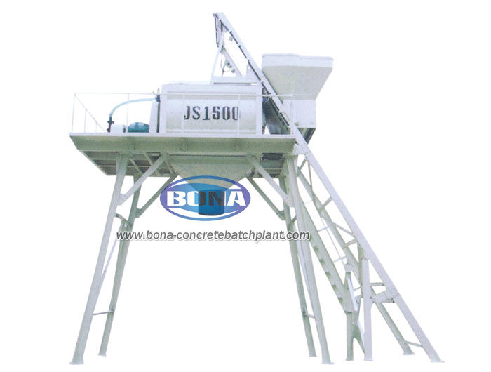 concrete mixer with lift